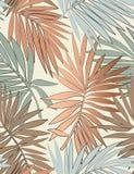 Tropisch naadloos patroon met bladeren vector illustratie