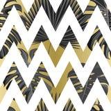 Tropisch naadloos patroon met exotische palmbladen vector illustratie