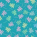 Tropisch naadloos patroon met kleurrijke exotische bladeren Vector illustratie Stock Fotografie