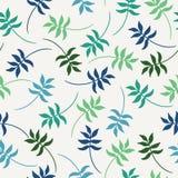 Tropisch naadloos patroon met kleurrijke exotische bladeren Vector illustratie Royalty-vrije Stock Afbeelding