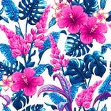 Tropisch naadloos patroon met palmbladen Royalty-vrije Stock Foto