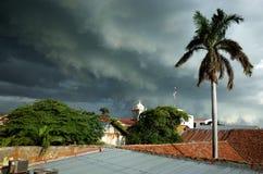 Tropisch onweer in Nicaragua stock afbeelding