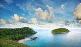 Tropisch overzees landschap Stock Afbeeldingen