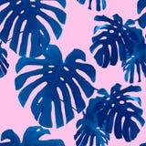 Tropisch palmbladen naadloos patroon Royalty-vrije Stock Afbeelding