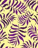 Tropisch palmbladen naadloos patroon vector illustratie