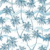 Tropisch palmen naadloos patroon stock illustratie