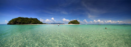 Tropisch Panorama Royalty-vrije Stock Afbeeldingen