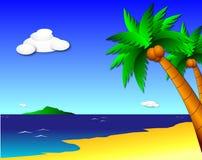 Tropisch Paradijs royalty-vrije illustratie