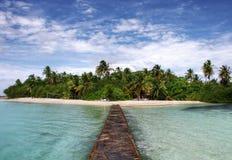 Tropisch paradijseiland royalty-vrije stock afbeelding