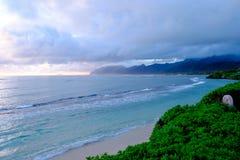 Tropisch Paradijsstrand Oahu Hawaï stock afbeelding