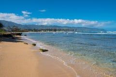 Tropisch Paradijsstrand Oahu Hawaï royalty-vrije stock afbeeldingen