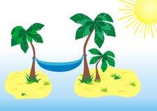 Tropisch paradize lizenzfreie abbildung