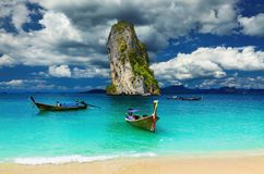 Tropisch strand, Andaman Overzees, Thailand Royalty-vrije Stock Afbeeldingen