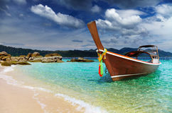 Tropisch strand, Andaman Overzees, Thailand Stock Fotografie