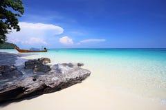 Tropisch strand, Andaman-Overzeese koh Rok Stock Afbeelding