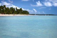 Tropisch strand in Brazilië Stock Afbeeldingen