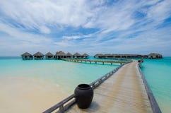 Tropisch strand in de Maldiven Royalty-vrije Stock Fotografie