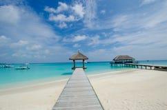 Tropisch strand in de Maldiven Stock Fotografie