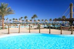 Tropisch strand. De Sjeik van Egypte Sharm Gr. Royalty-vrije Stock Afbeelding