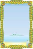 Tropisch Strand in een Kader Royalty-vrije Stock Afbeeldingen