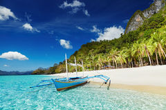Tropisch strand, Filippijnen Stock Foto's