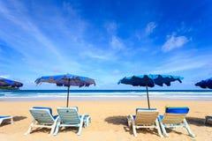 Tropisch strand, Kata Noi in phuketeiland, Andaman-overzees, Thailand royalty-vrije stock foto