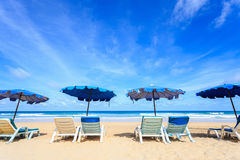Tropisch strand, Kata Noi in phuketeiland, Andaman-overzees, Thailand stock afbeeldingen