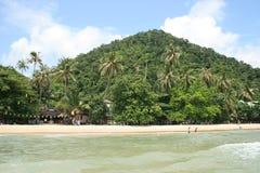 Tropisch strand in Koh Chang, Thailand. Stock Afbeeldingen