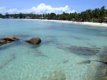 Tropisch strand in Koh Phangan, Thailand. Royalty-vrije Stock Afbeelding