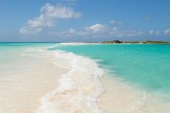 Tropisch strand, los roques eilanden, Venezuela royalty-vrije stock foto's