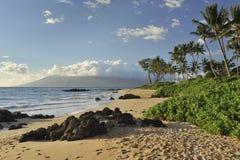 Tropisch strand in Maui royalty-vrije stock afbeeldingen
