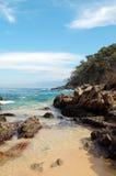 Tropisch strand in Mexico (Vreedzame oceaan) Royalty-vrije Stock Foto's