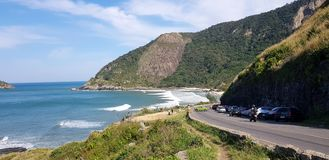 Tropisch strand in Rio de Janeiro stock fotografie