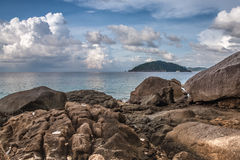 Tropisch strand, Similan-Eilanden, Andaman-Overzees, Thailand Stock Foto