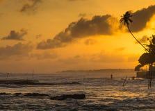Tropisch strand, Sri Lanka Royalty-vrije Stock Fotografie