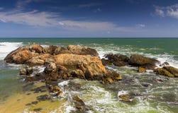 Tropisch strand, Sri Lanka Royalty-vrije Stock Afbeelding