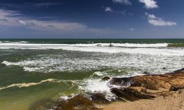 Tropisch strand, Sri Lanka Stock Afbeeldingen