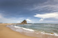 Tropisch strand in Terengganu, Maleisië Stock Foto