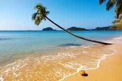 Tropisch strand, Thailand stock foto