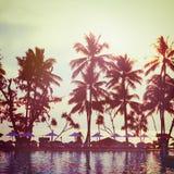 Tropisch strand Uitstekend instagrameffect Stock Fotografie