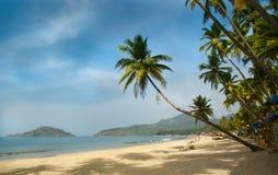 Tropisch strand van Palolem Royalty-vrije Stock Afbeeldingen