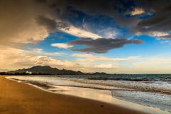 Tropisch strand in Vietnam royalty-vrije stock foto's