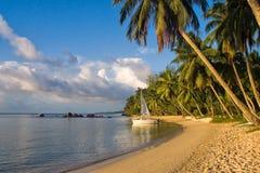 Tropisch strandlandschap royalty-vrije stock afbeelding