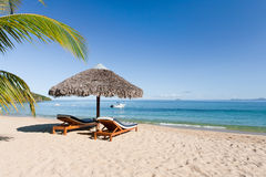 Tropisch strandlandschap Stock Afbeeldingen