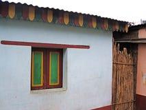 Tropisch traditioneel dorpshuis Royalty-vrije Stock Fotografie