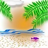 Tropisch vakantieart. Stock Afbeeldingen