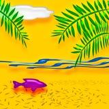 Tropisch vakantieart. Royalty-vrije Stock Foto