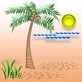 Tropisch vakantieart. Stock Afbeelding