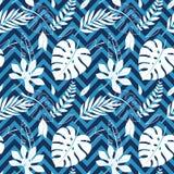 Tropisch vector groen bladeren naadloos patroon Exotisch behang De zomerontwerp vector illustratie