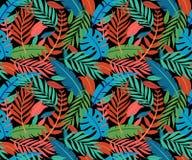 Tropisch vector groen bladeren naadloos patroon Exotisch behang De zomerontwerp Tropisch wildernisgebladerte, de achtergrond van  stock illustratie